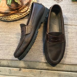 Sperry brown leather penny loafers men's size 9.5